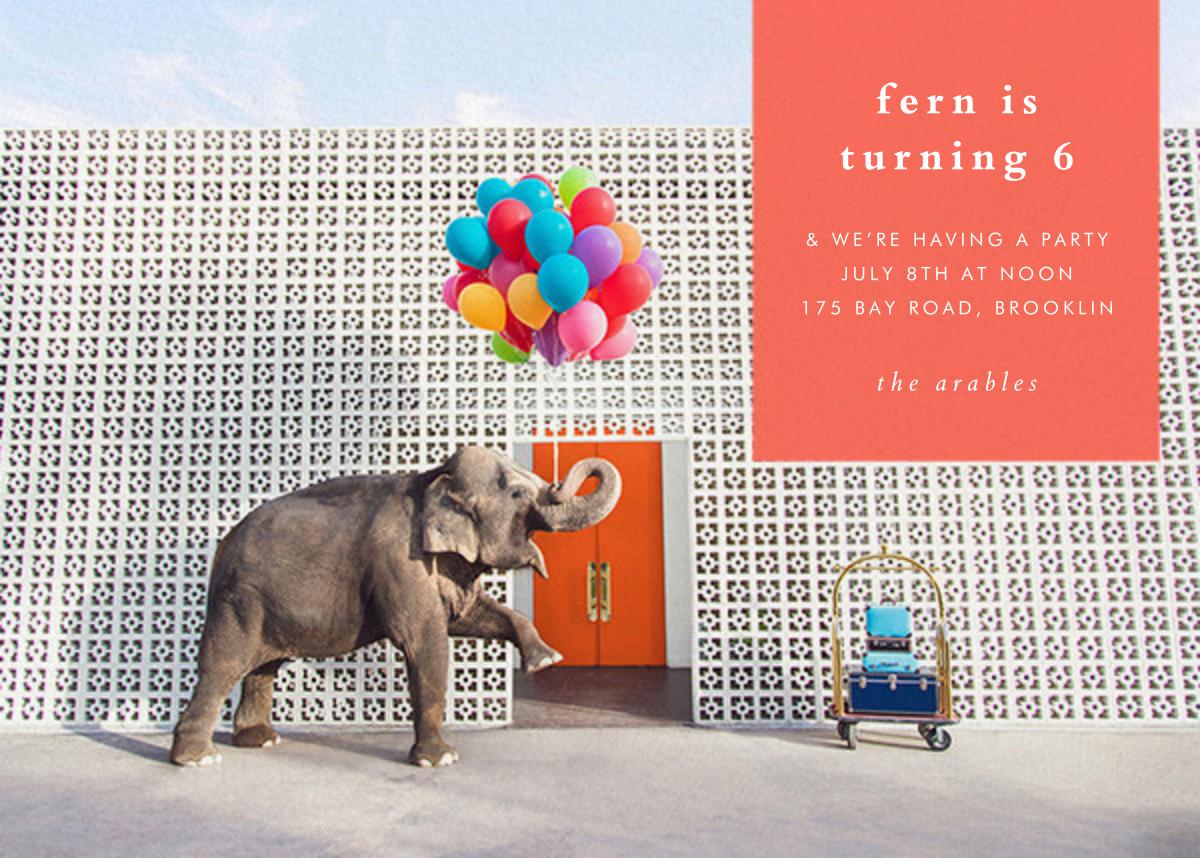 Elephant with Balloons I - Gray Malin - Kids' birthday