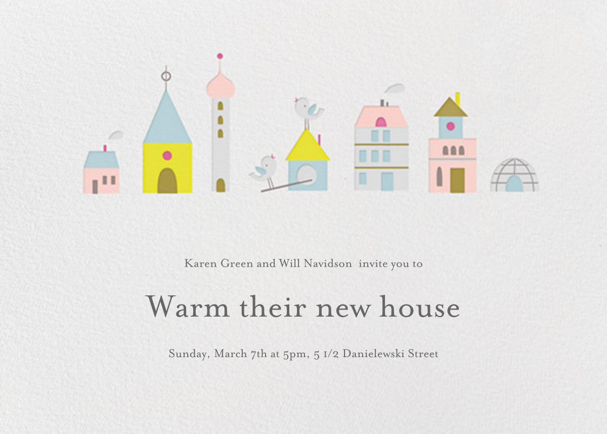 Birdie's Town (Horizontal) - Little Cube - Housewarming