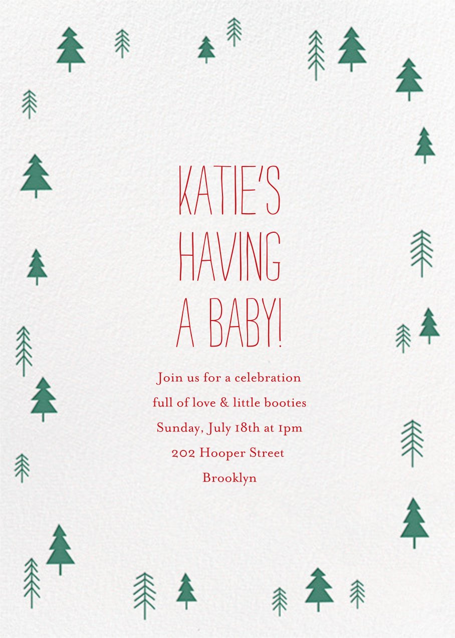 Tiny Town Forest - Green - Little Cube - Baby shower