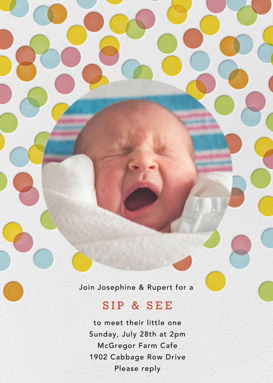 Rainbow Confetti - Petit Collage - Baby shower
