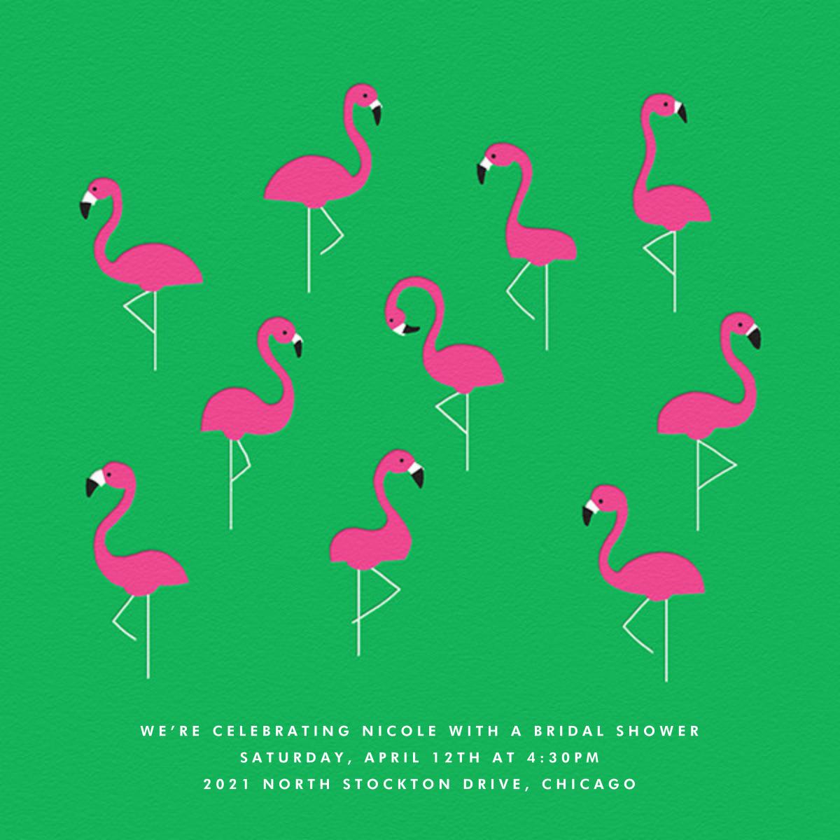 Flamingos - The Indigo Bunting - Bridal shower