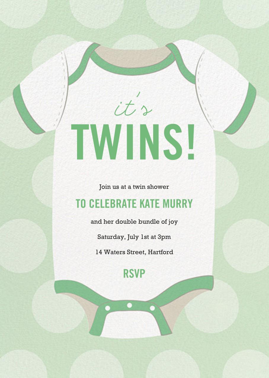 Baby Onesie - Green - Paper Source - Baby shower