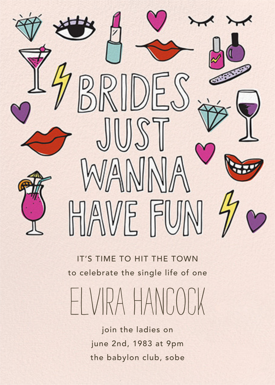 Brides Wanna - Paper Source - Bachelorette party