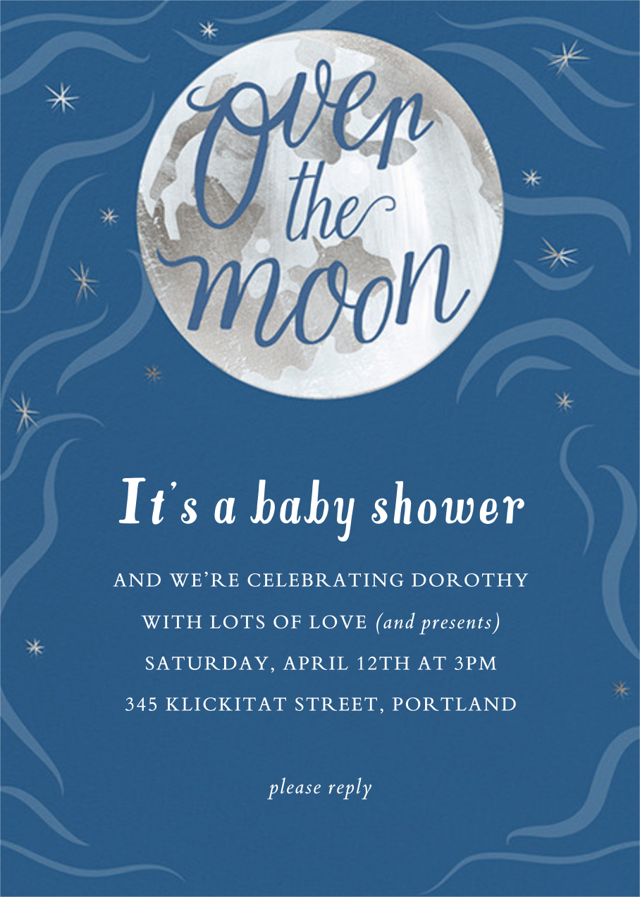 Over the Moon - Paper Source - Baby shower