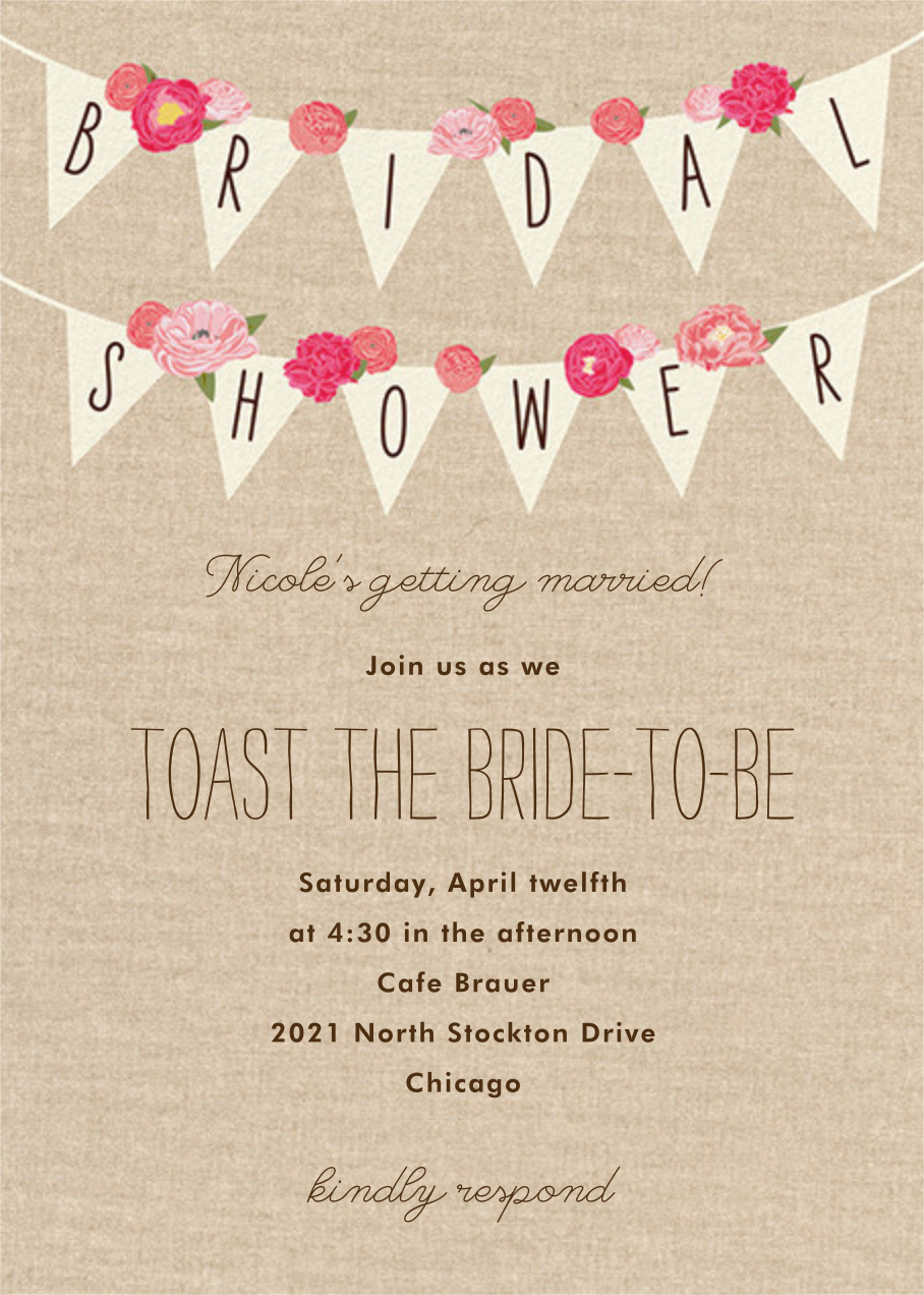 Rustic Banner - Paper Source - Printable invitations