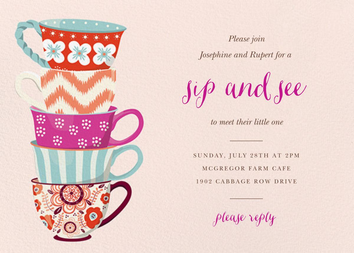 Tea Set - Paper Source - Sip and see