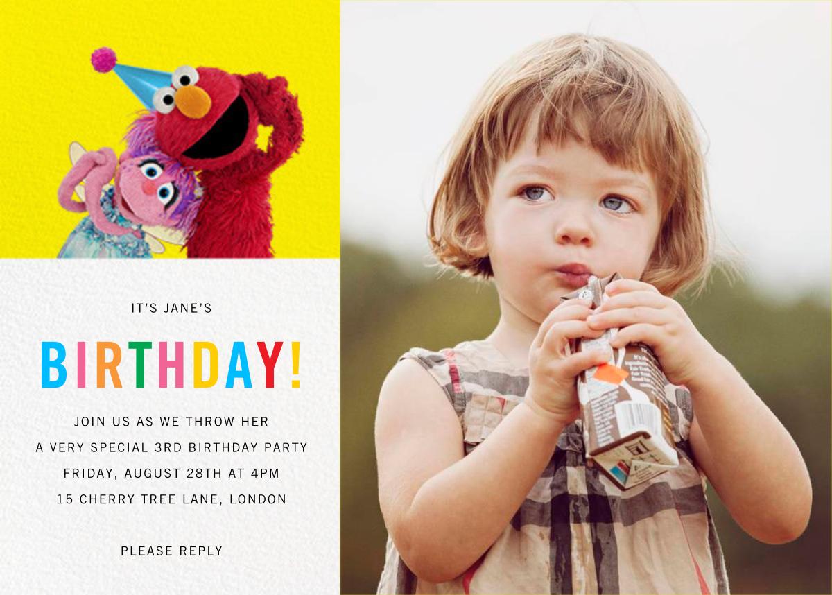 Birthday Fun Photo - Sesame Street - Kids' birthday