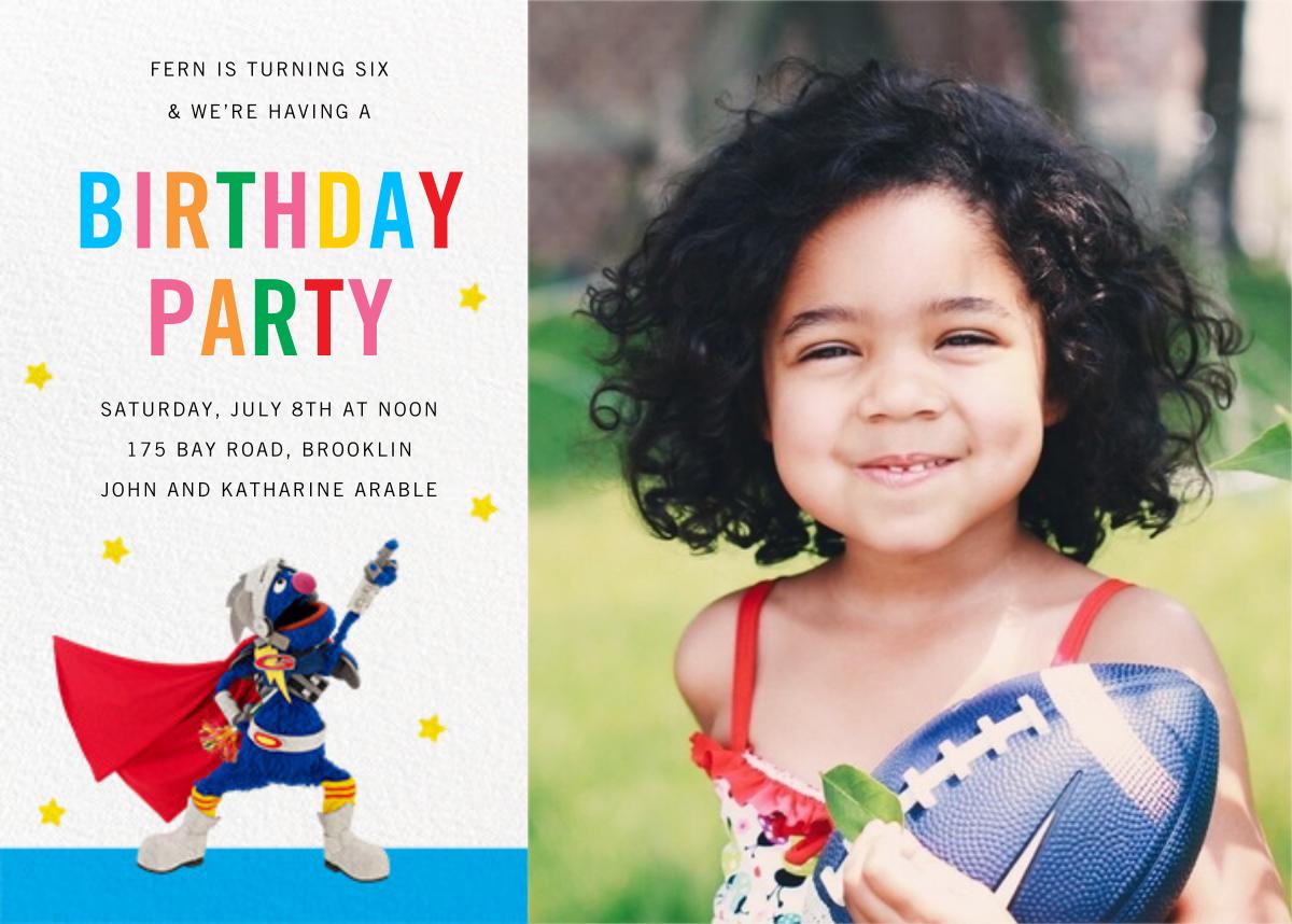 Super Grover Photo - Sesame Street - Kids' birthday