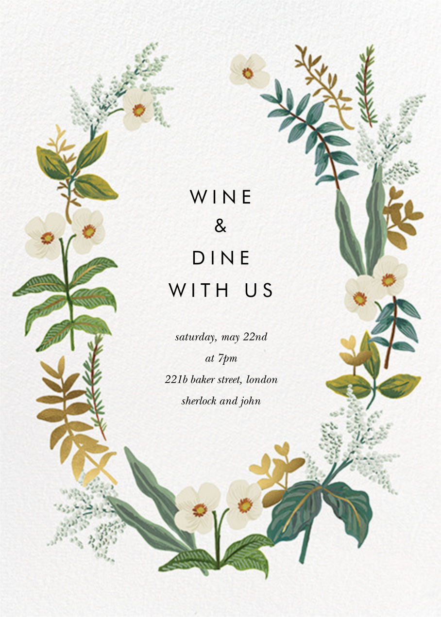Meadow Garland - Rifle Paper Co. - Dinner party
