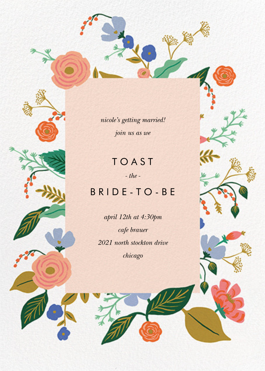 Pressed Wildflowers - Rifle Paper Co. - Bridal shower