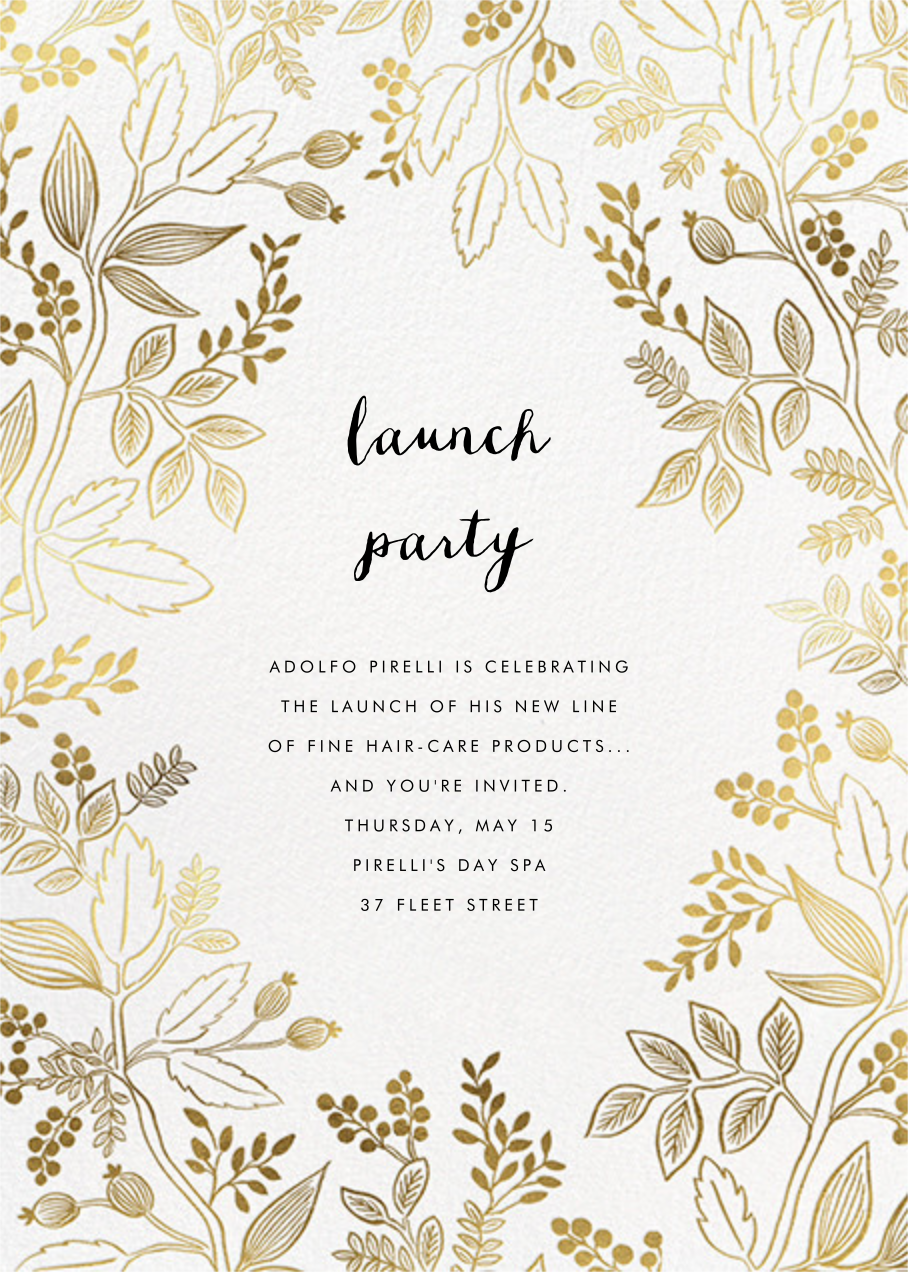 Queen Anne - Rifle Paper Co. - Professional events