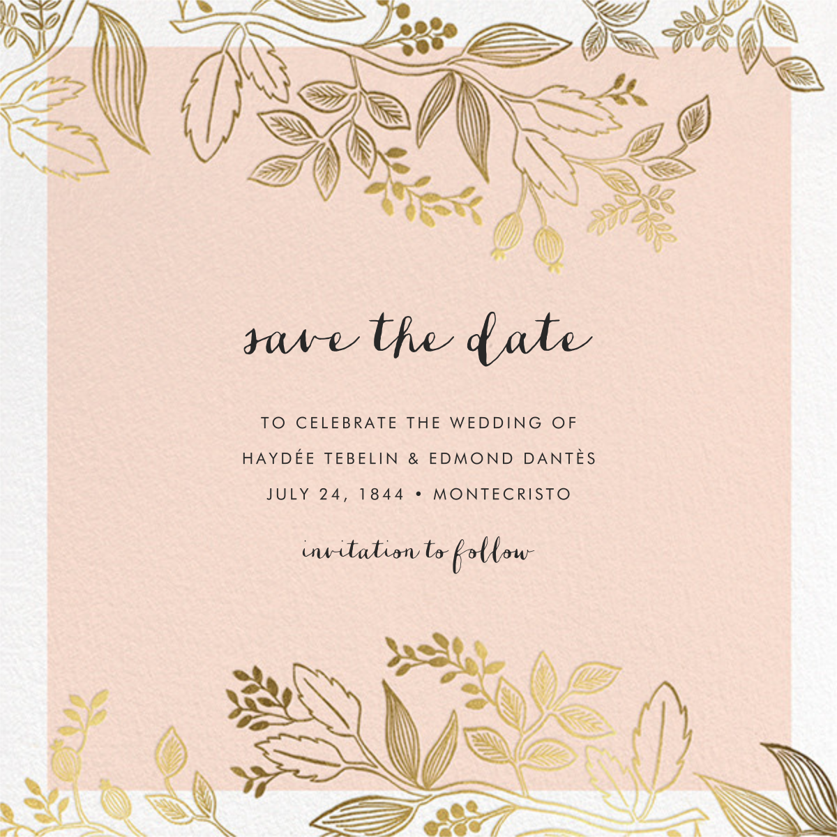 Queen Anne (Square) - Rifle Paper Co. - Save the date