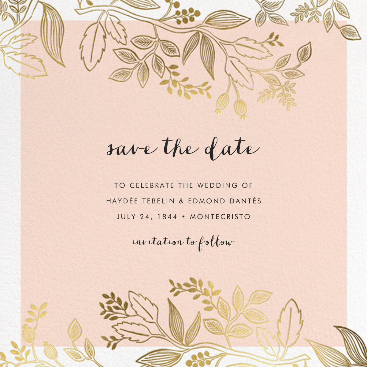 Queen Anne (Square) - Rifle Paper Co. - Printable invitations