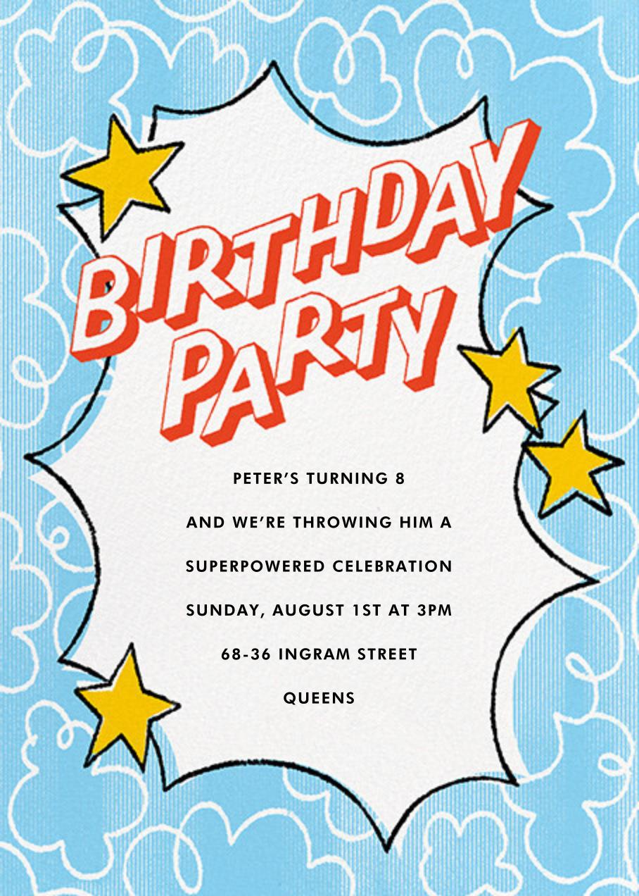 One Super Day - Paperless Post - Kids' birthday