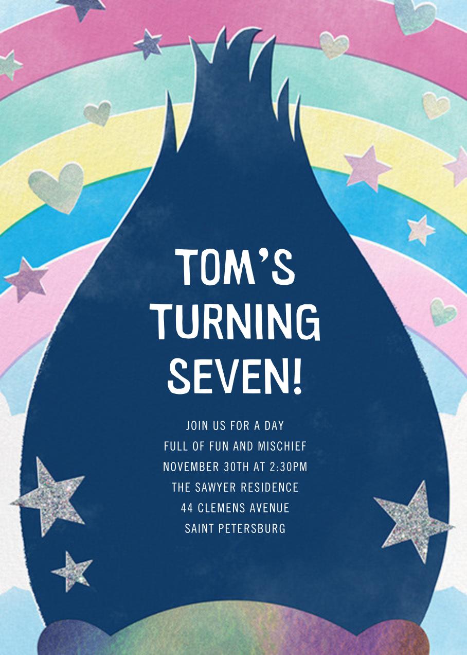 Troll Out - Dark Blue - Paperless Post - Kids' birthday