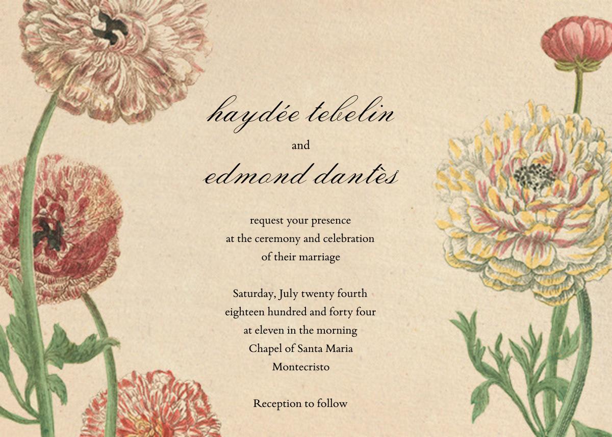 Wild Ranunculus (Invitation) - John Derian - All