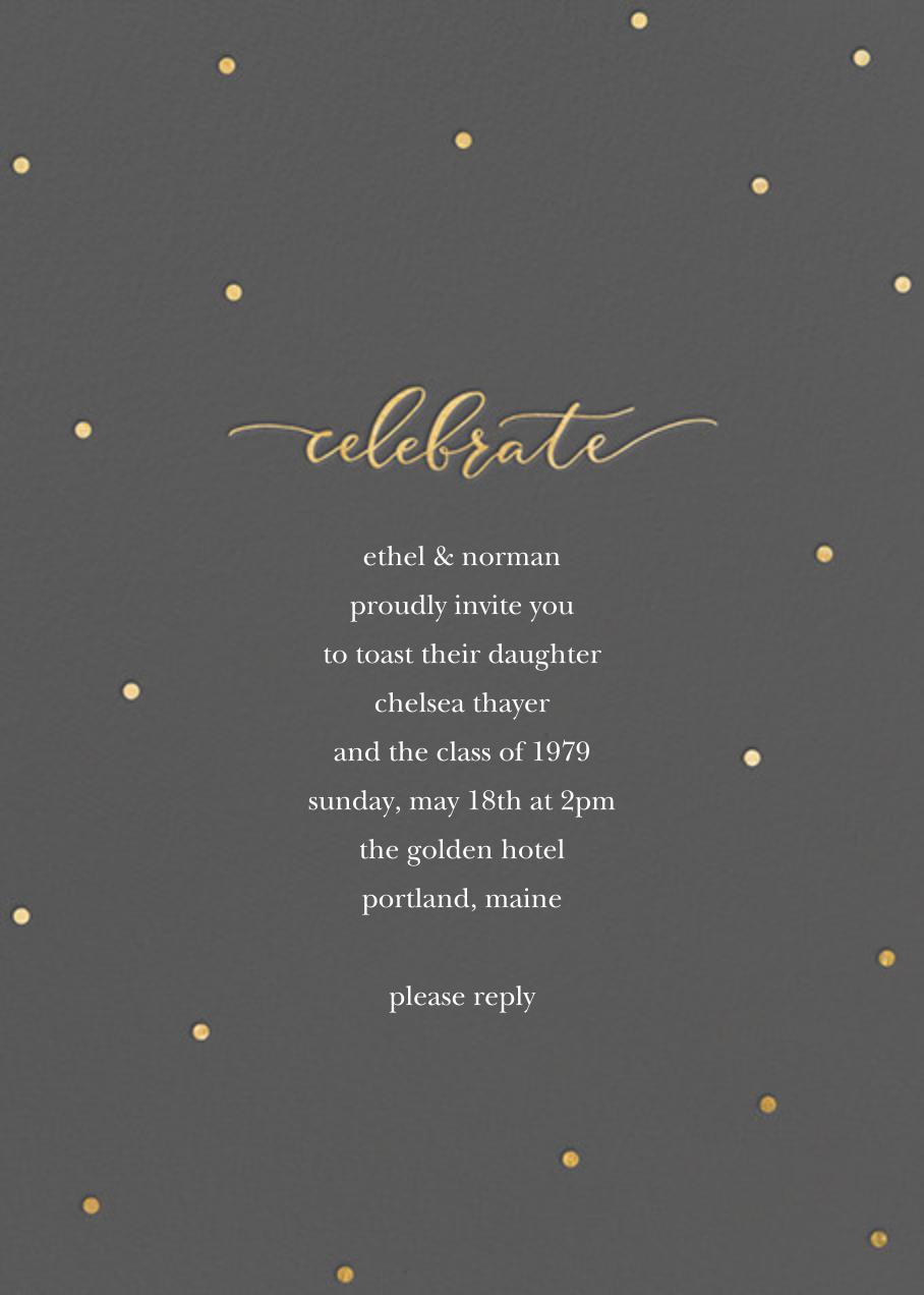 Celebration Dots - Charcoal/Gold - Sugar Paper - Graduation party