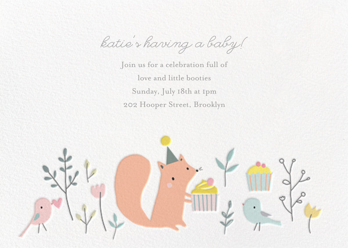 Foxy's Teatime Party - Little Cube - Baby shower