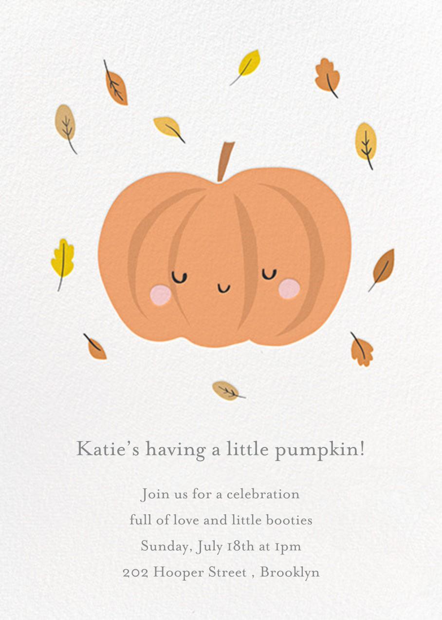 Little Pumpkin - Little Cube - Baby shower