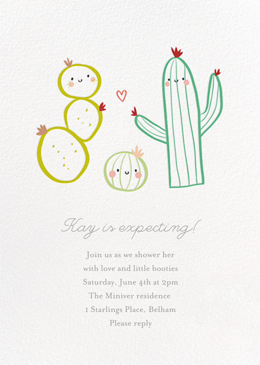 Prickly Pals - Little Cube - Baby shower