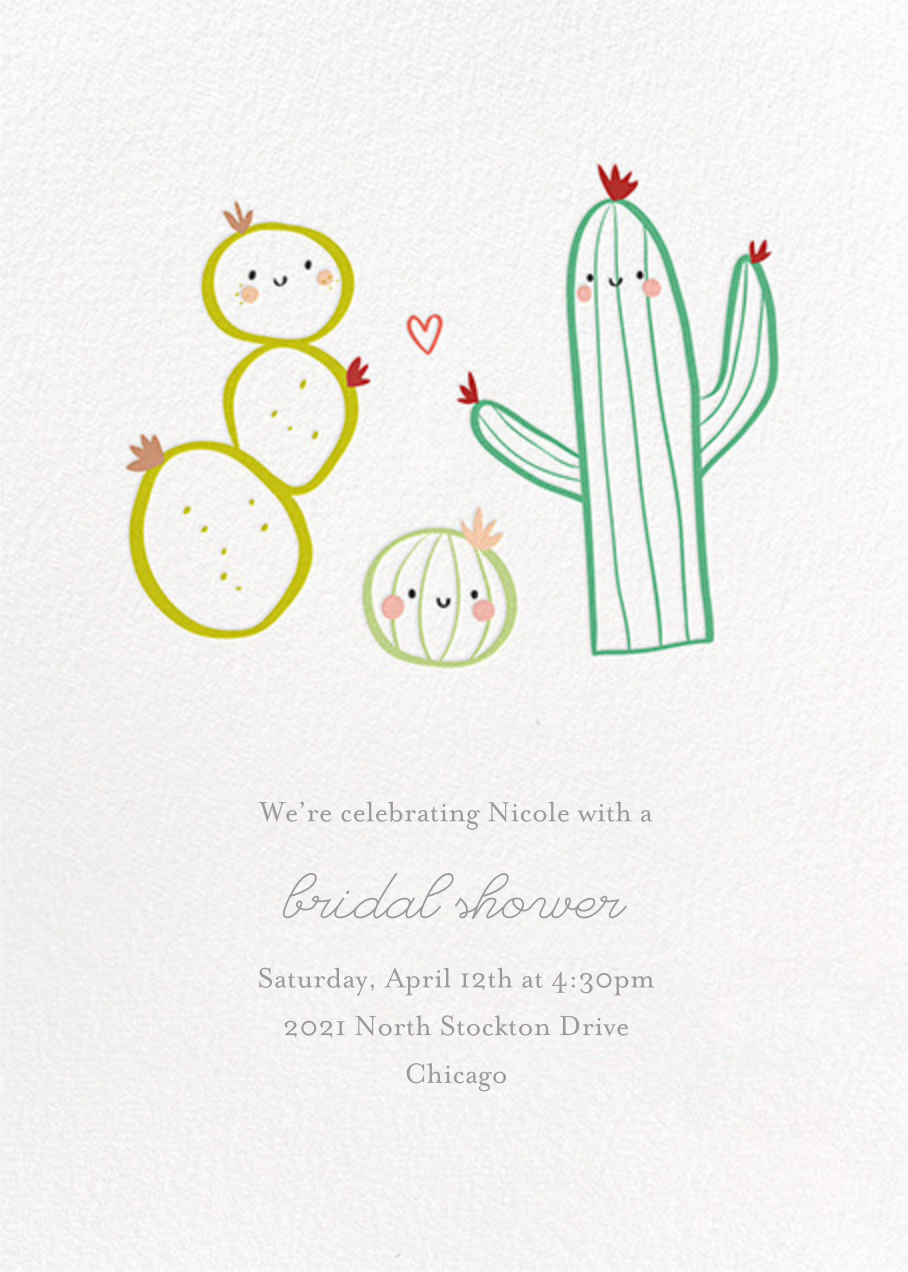 Prickly Pals - Little Cube - Bridal shower