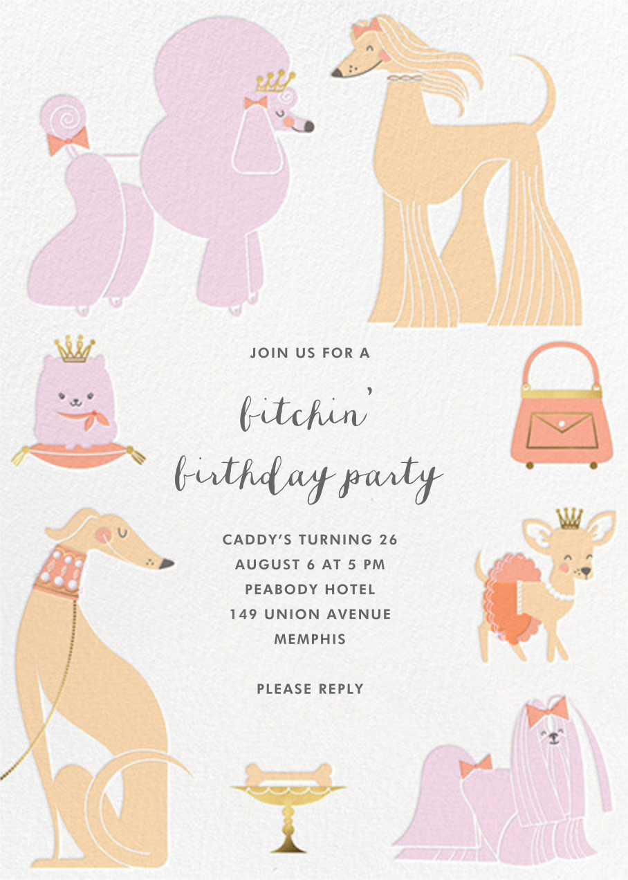 Chiens Chic - Hello!Lucky - Adult birthday