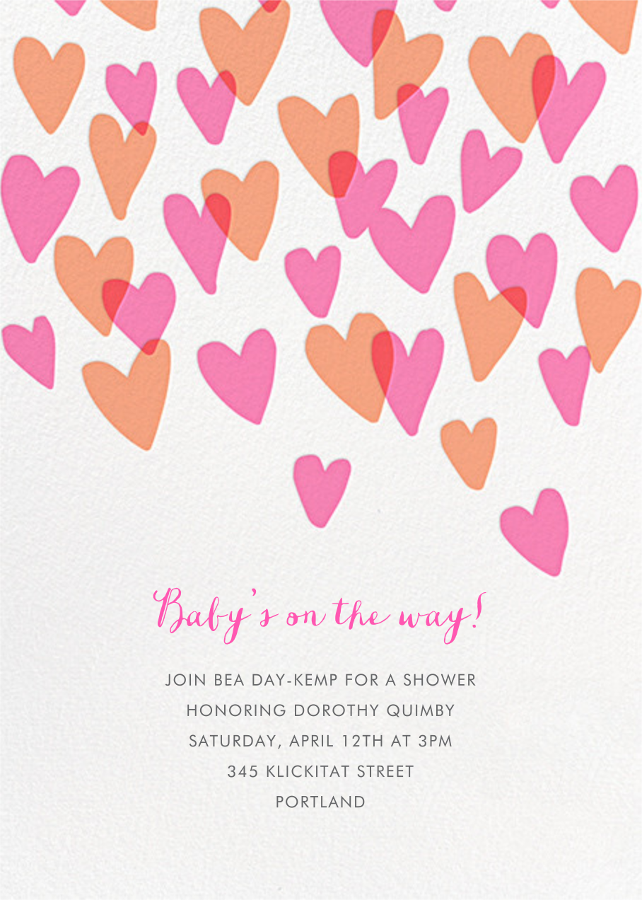 Hearts a Flutter - Hello!Lucky - Baby shower