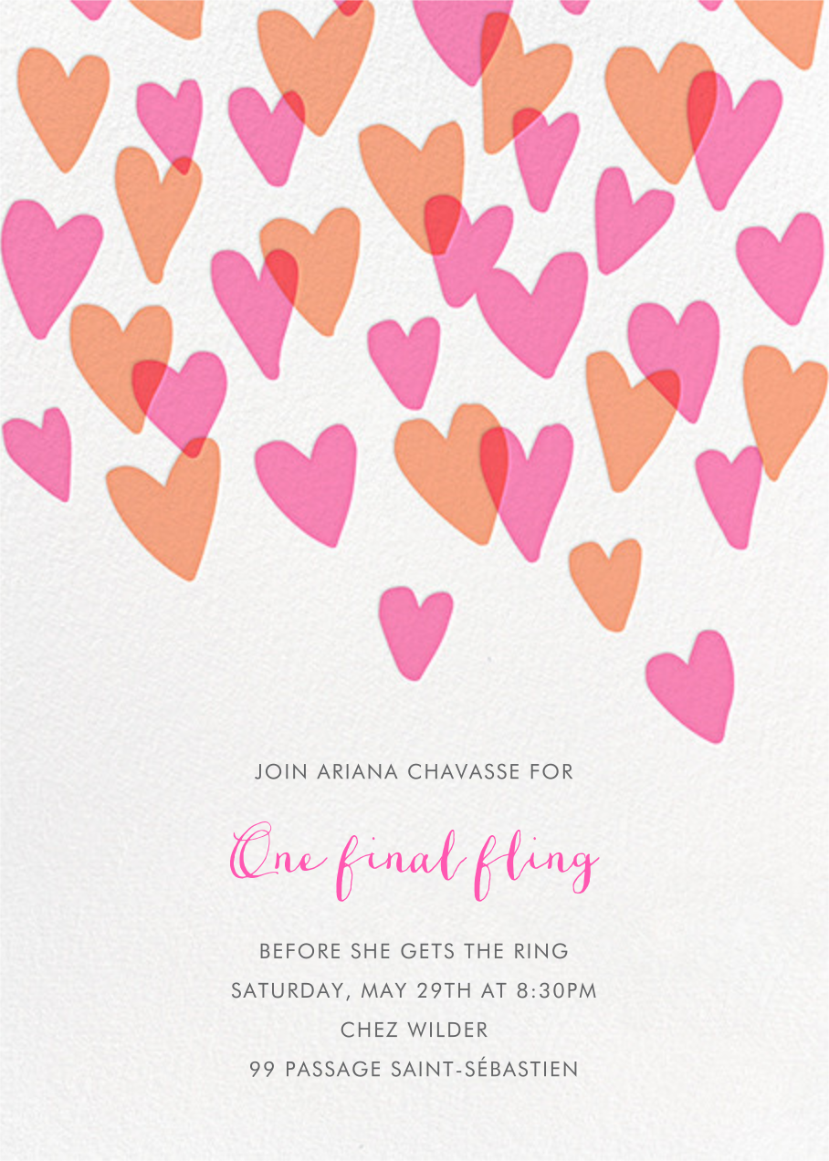 Hearts a Flutter - Hello!Lucky - Bachelorette party