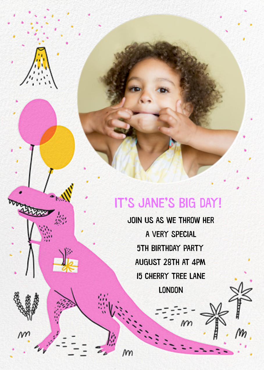 T-Rex B-Day - Hello!Lucky - Kids' birthday