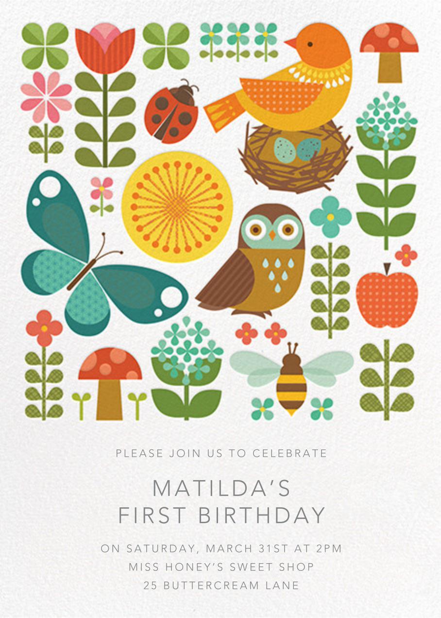 Garden Portrait - Petit Collage - Kids' birthday
