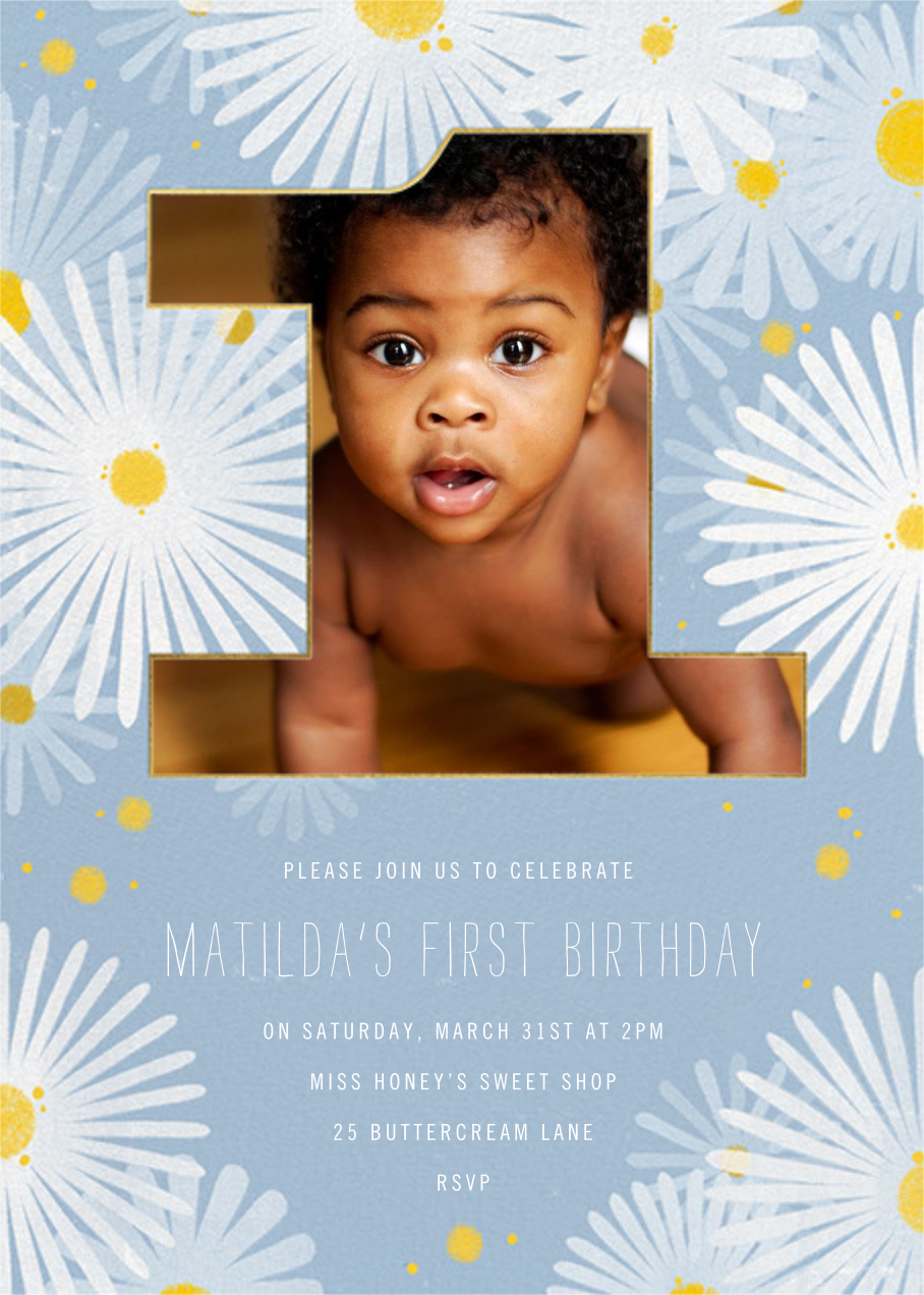 One Crazy Daisy - Paperless Post - First birthday