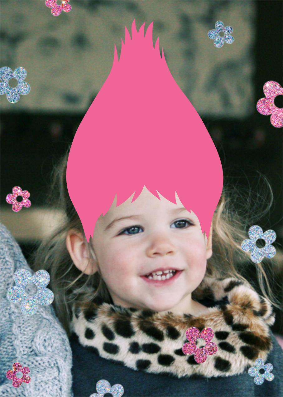 Hair Don't - Pink - Paperless Post - Kids' birthday