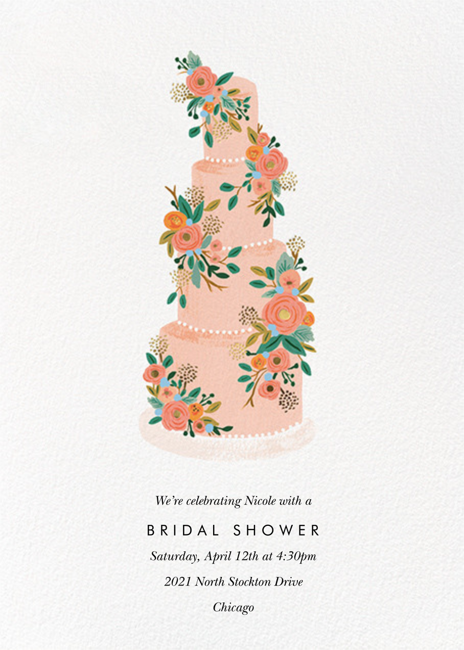 Princess Cake - Rifle Paper Co. - Bridal shower