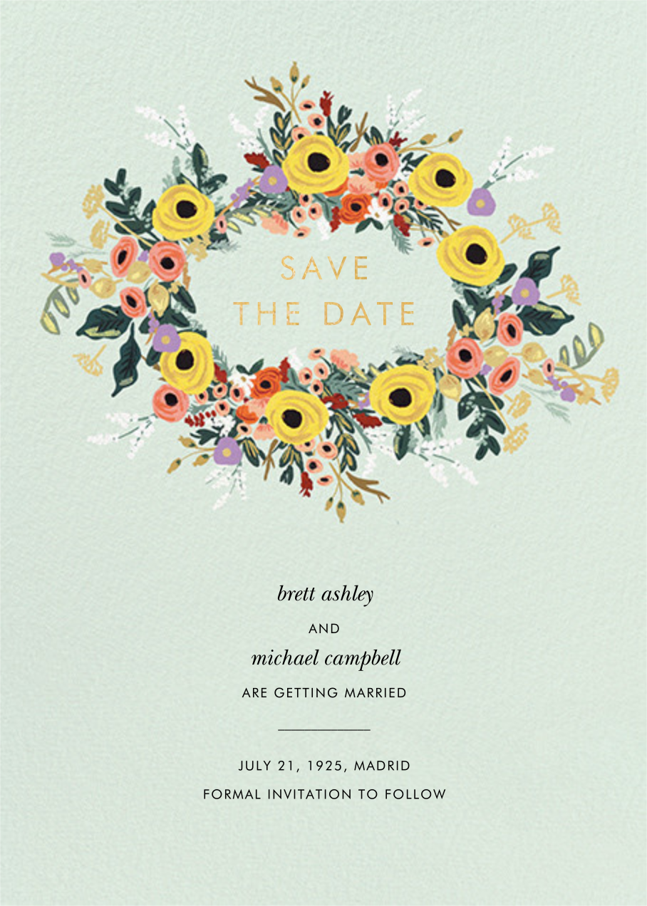 Buttercup Garland - Rifle Paper Co. - Save the date