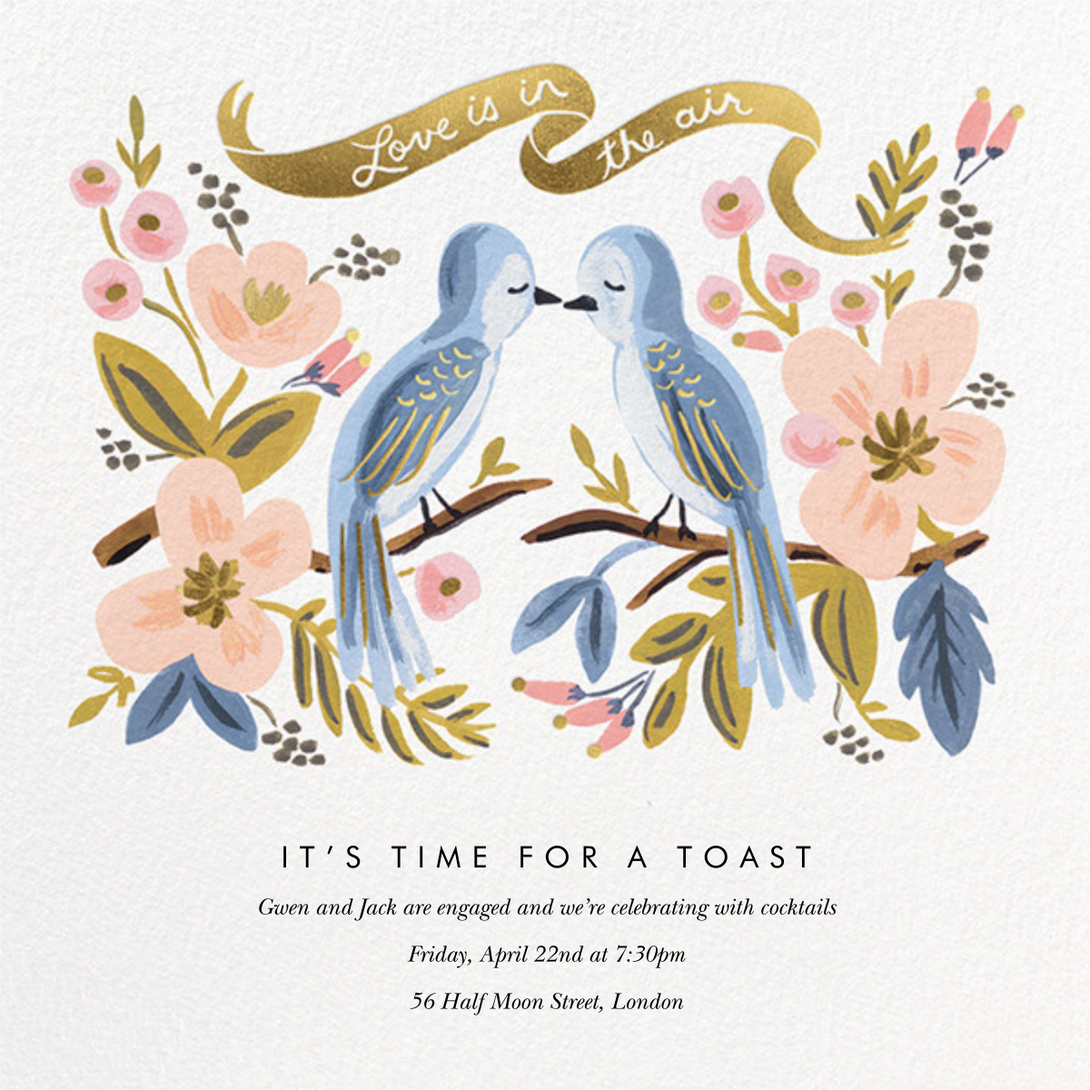 Love is Lighter than Air - Rifle Paper Co. - Engagement party