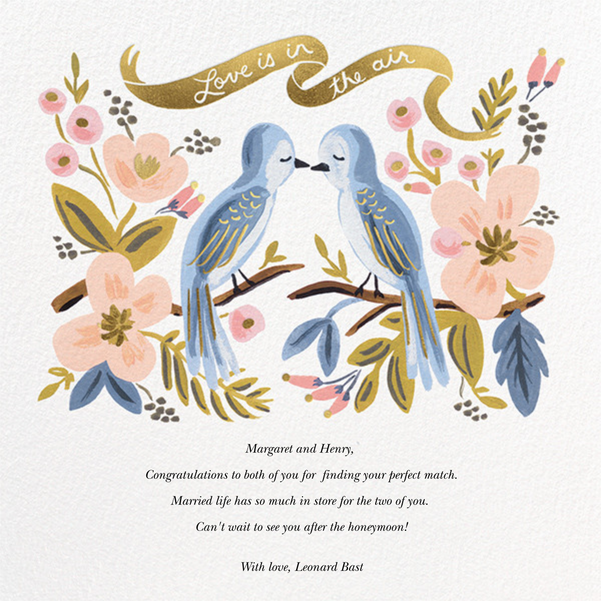 Love is Lighter than Air - Rifle Paper Co. - Congratulations