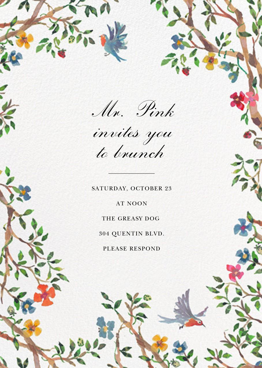 Birds on Bowers - Happy Menocal - Wedding brunch
