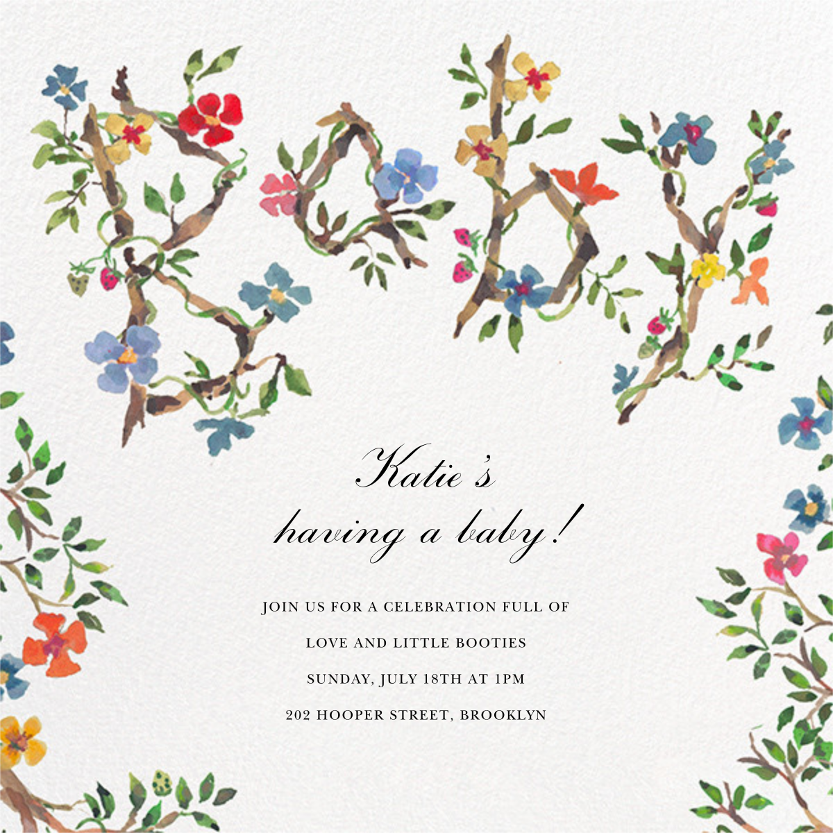 Baby Blossoms - Happy Menocal - Baby shower