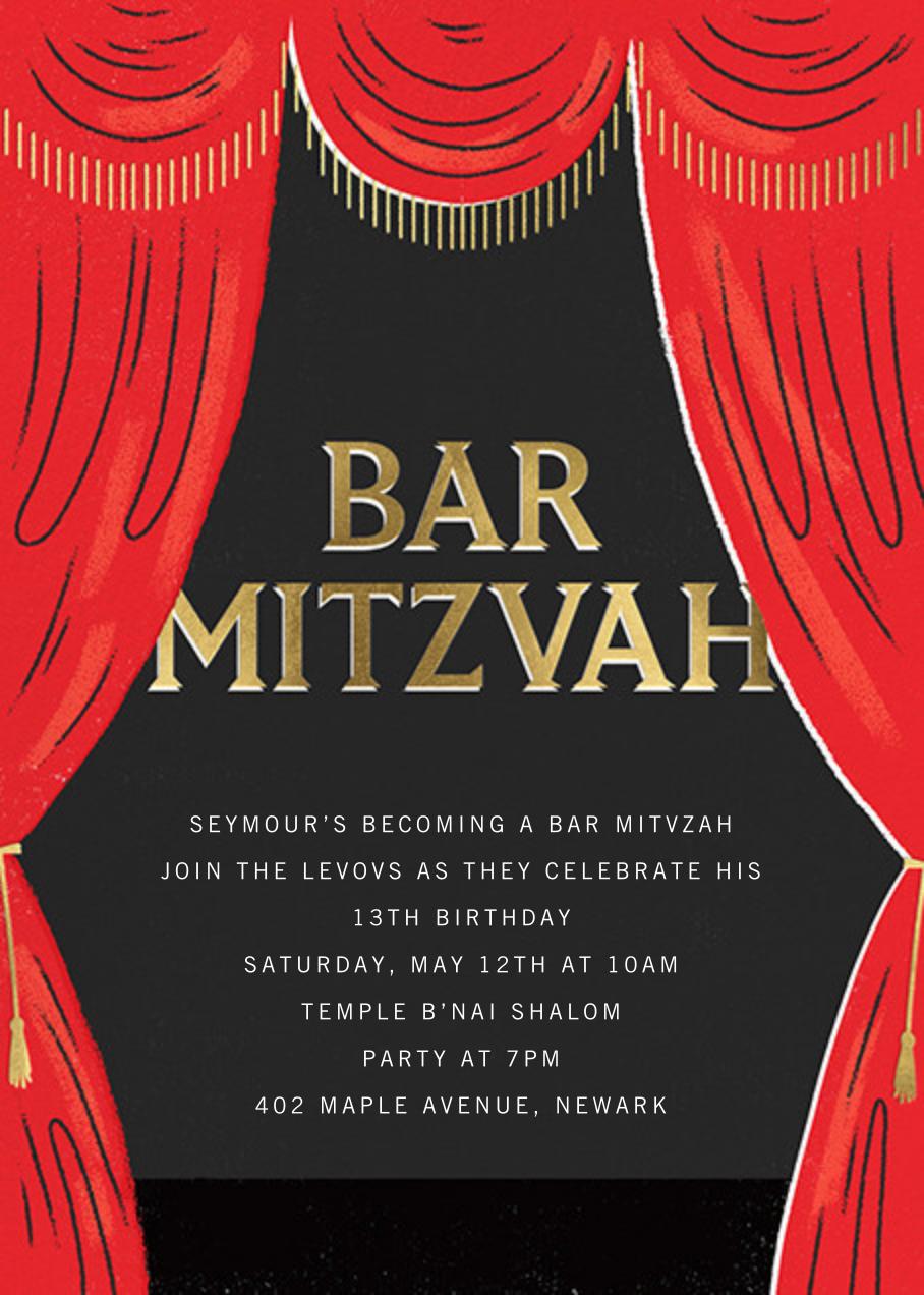 Putting on the Mitz - Bar - Paperless Post - Bat and bar mitzvah