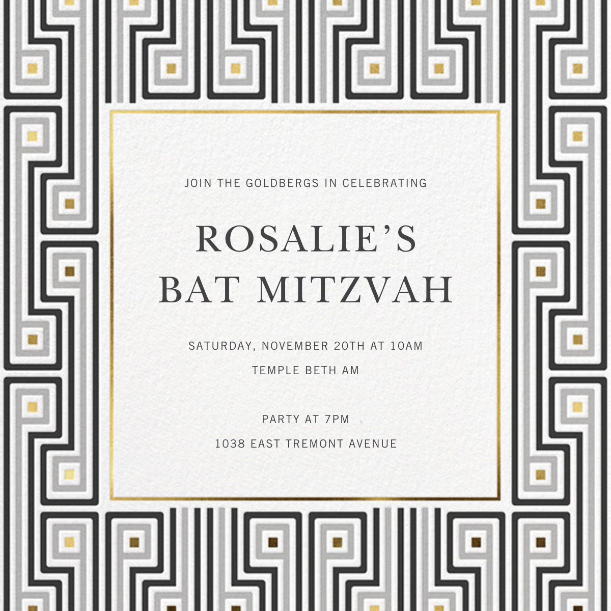 Miramar - Jonathan Adler - Bar and bat mitzvah
