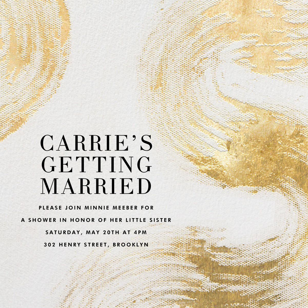 Allegro - Ivory/Gold - Kelly Wearstler - Bridal shower