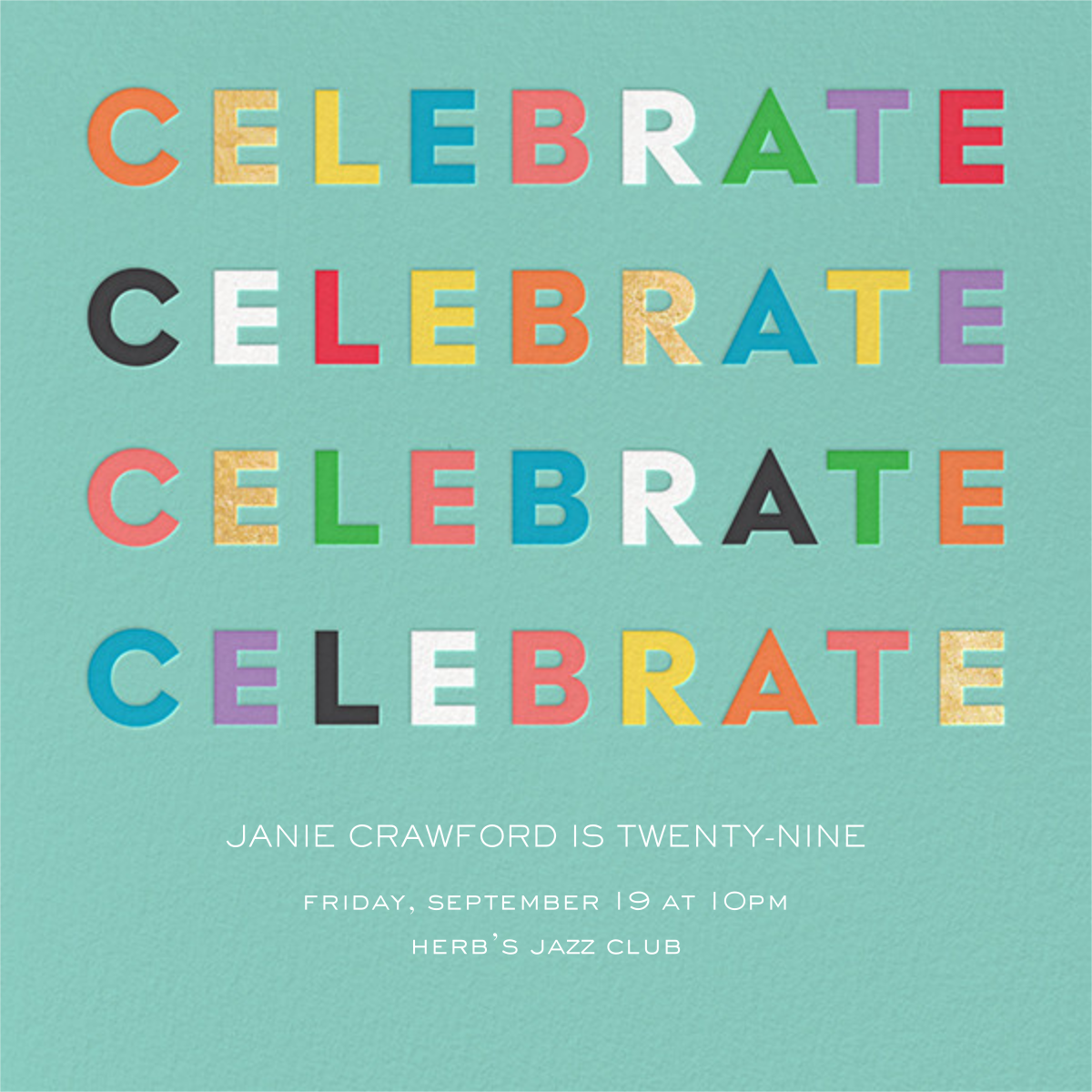 Colorful Celebration - kate spade new york - Adult birthday
