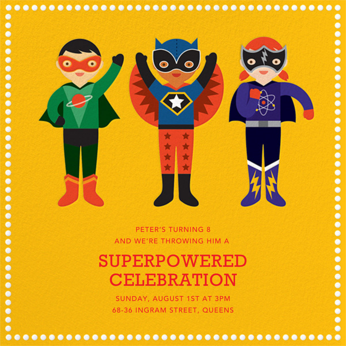 Superhero Trio - Petit Collage - Halloween