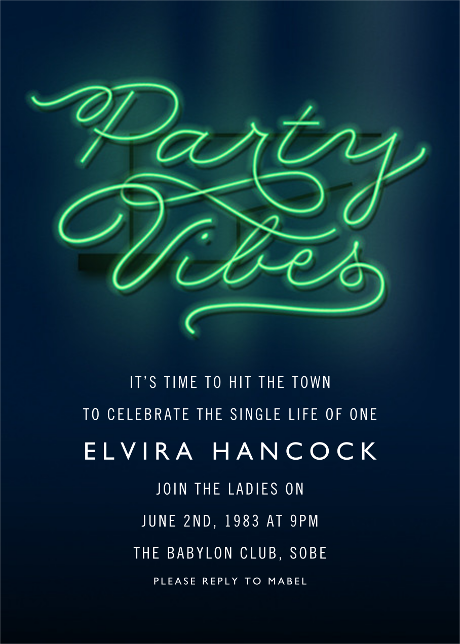 Party Vibes - Cheree Berry - Bachelorette party
