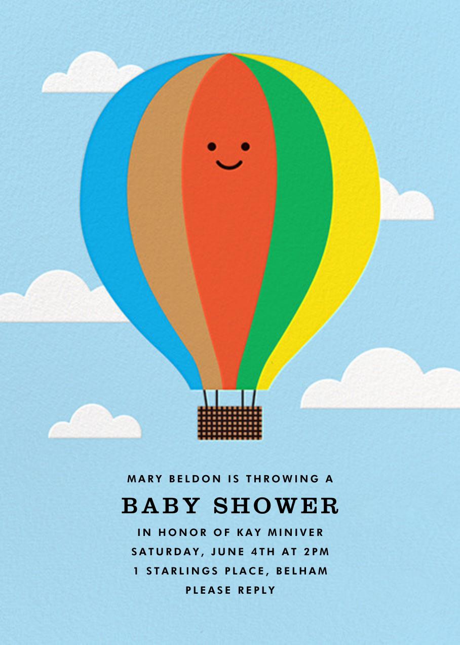Gone Ballooning - Blue - The Indigo Bunting - Baby shower
