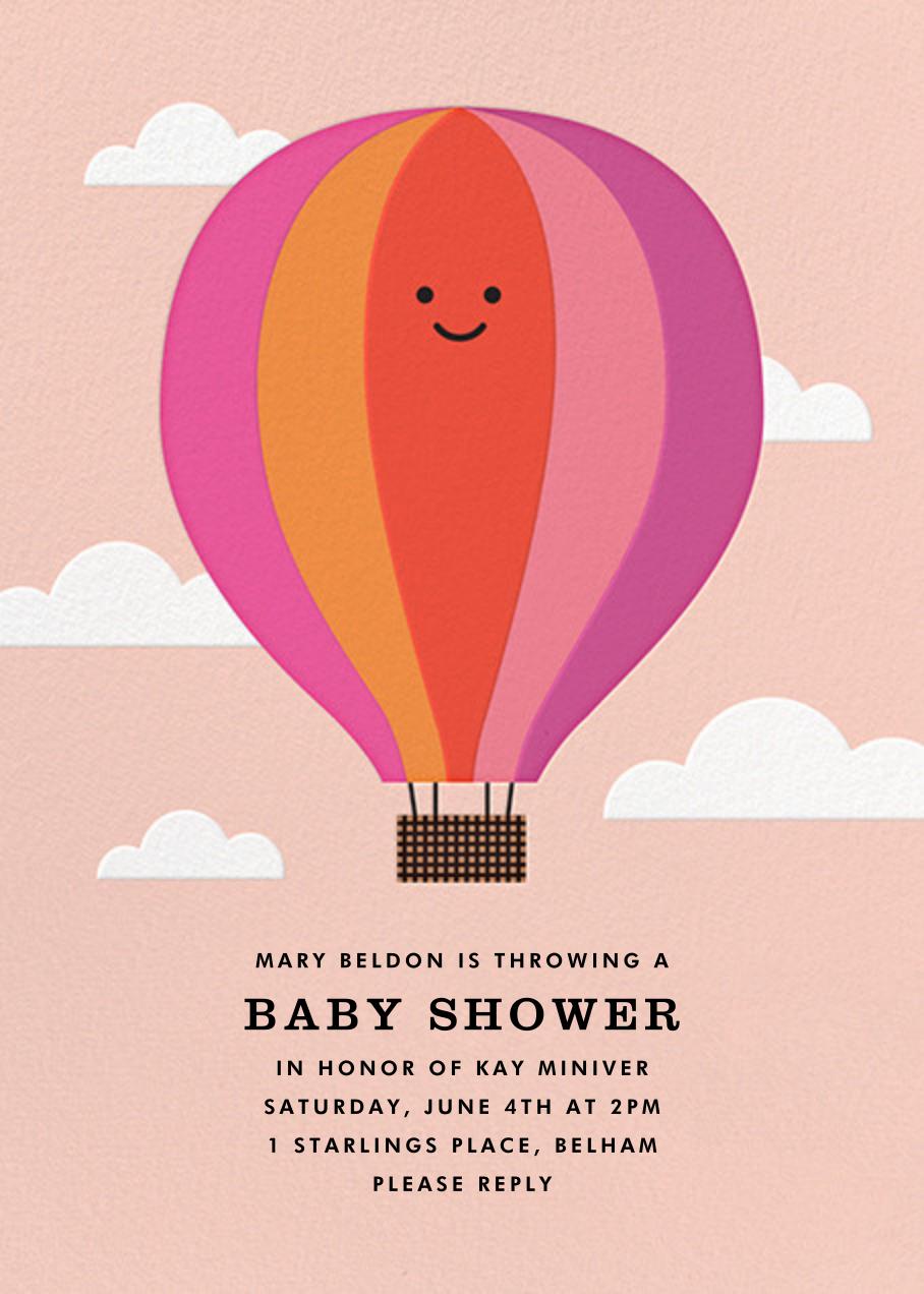 Gone Ballooning - Pink - The Indigo Bunting - Baby shower