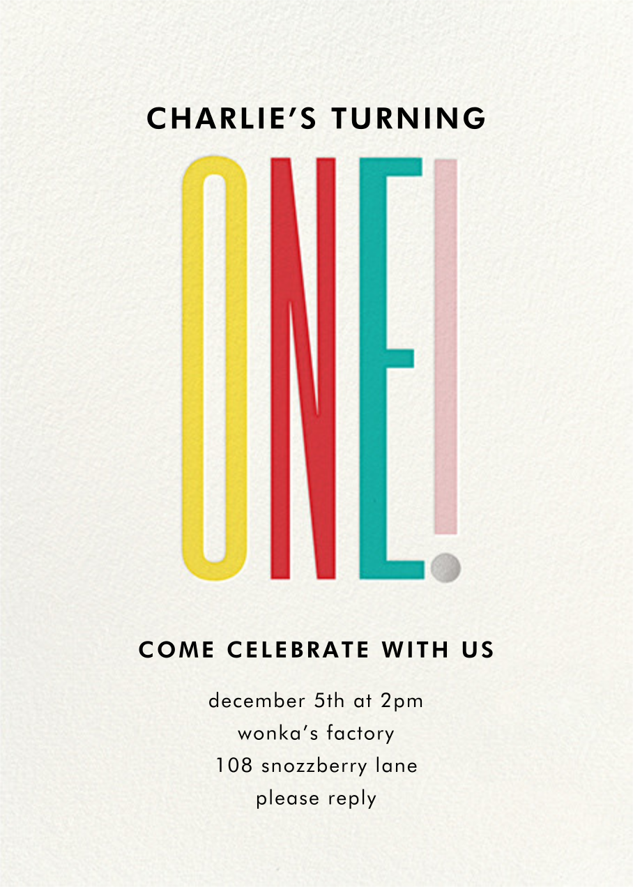 A Tall One - kate spade new york - First birthday and baby