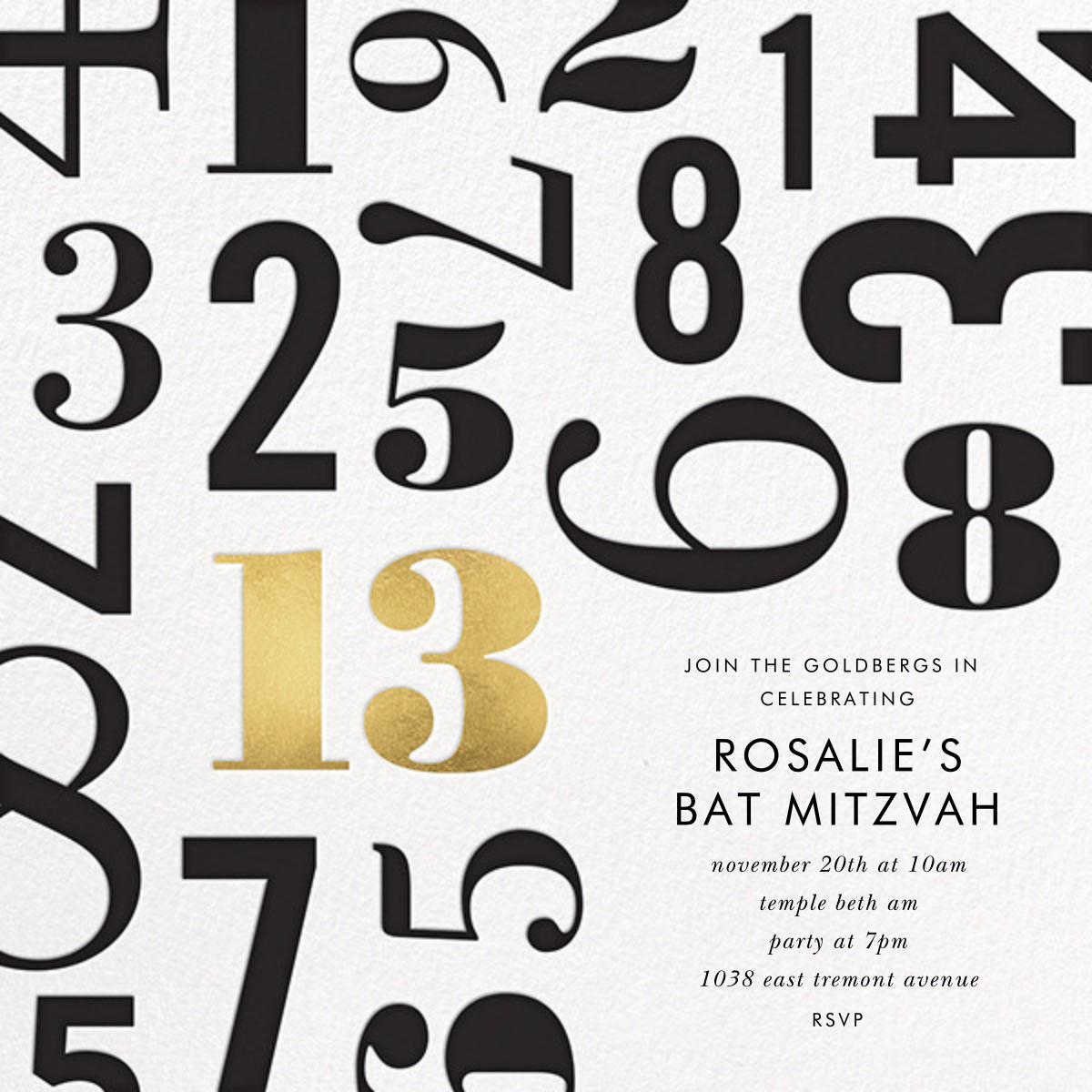 Lucky Number - Thirteen - kate spade new york - Bar and bat mitzvah