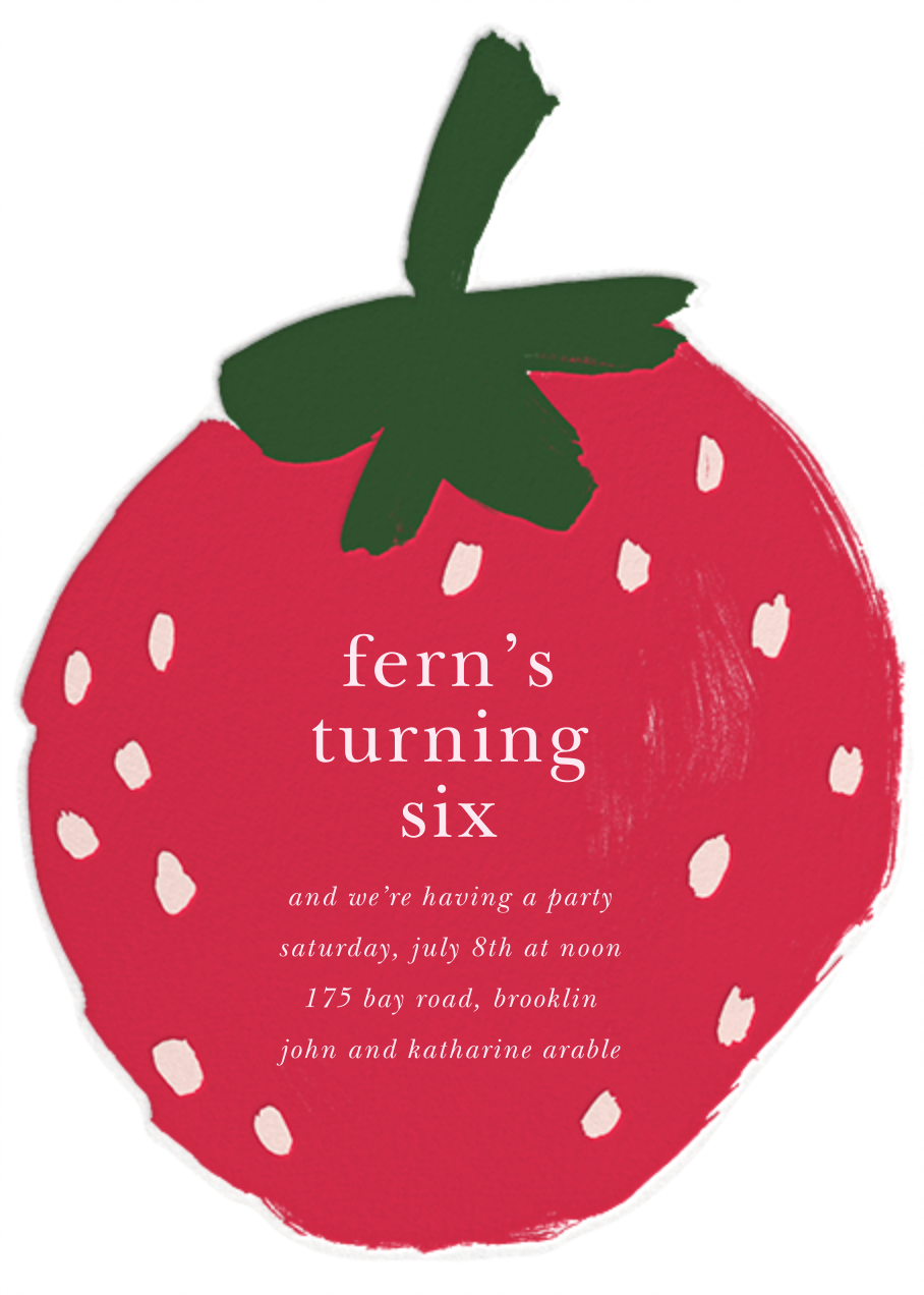 Painted Strawberry - kate spade new york - Fruity invitations
