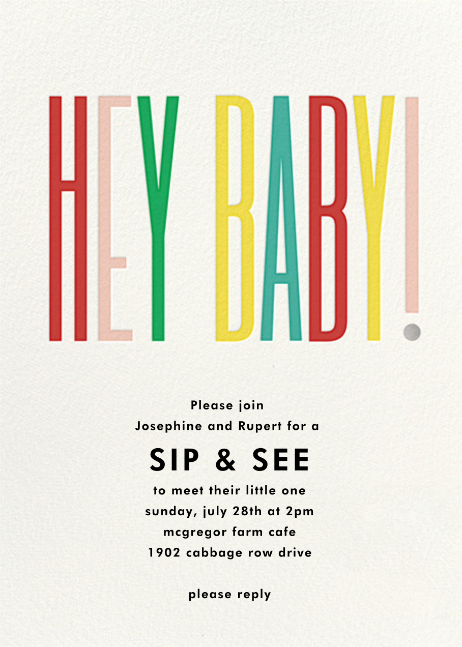 Hey Baby - kate spade new york - Sip and see